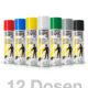 12er Set Strassenmarkierungsfarben