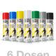 6er Set Strassenmarkierungsfarben